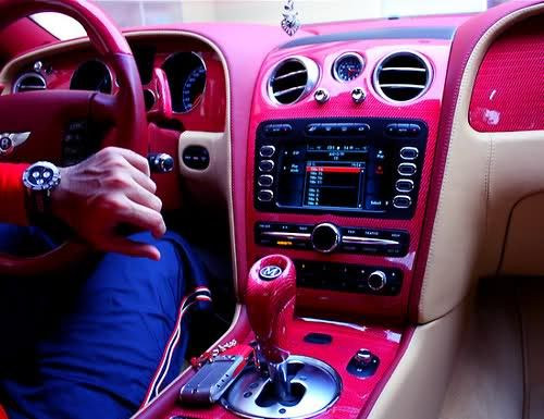 PINK. INSIDE THE CAR. YES PLEASE.