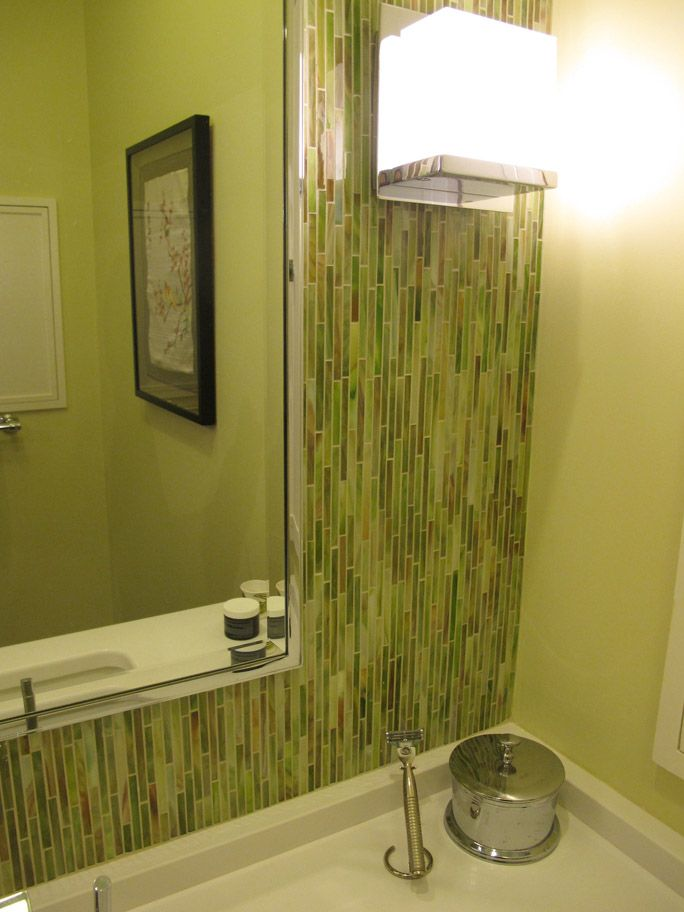 Bamboo Tile Backsplash | Bathrooms Oval Soaking Tub | Home ideas ...