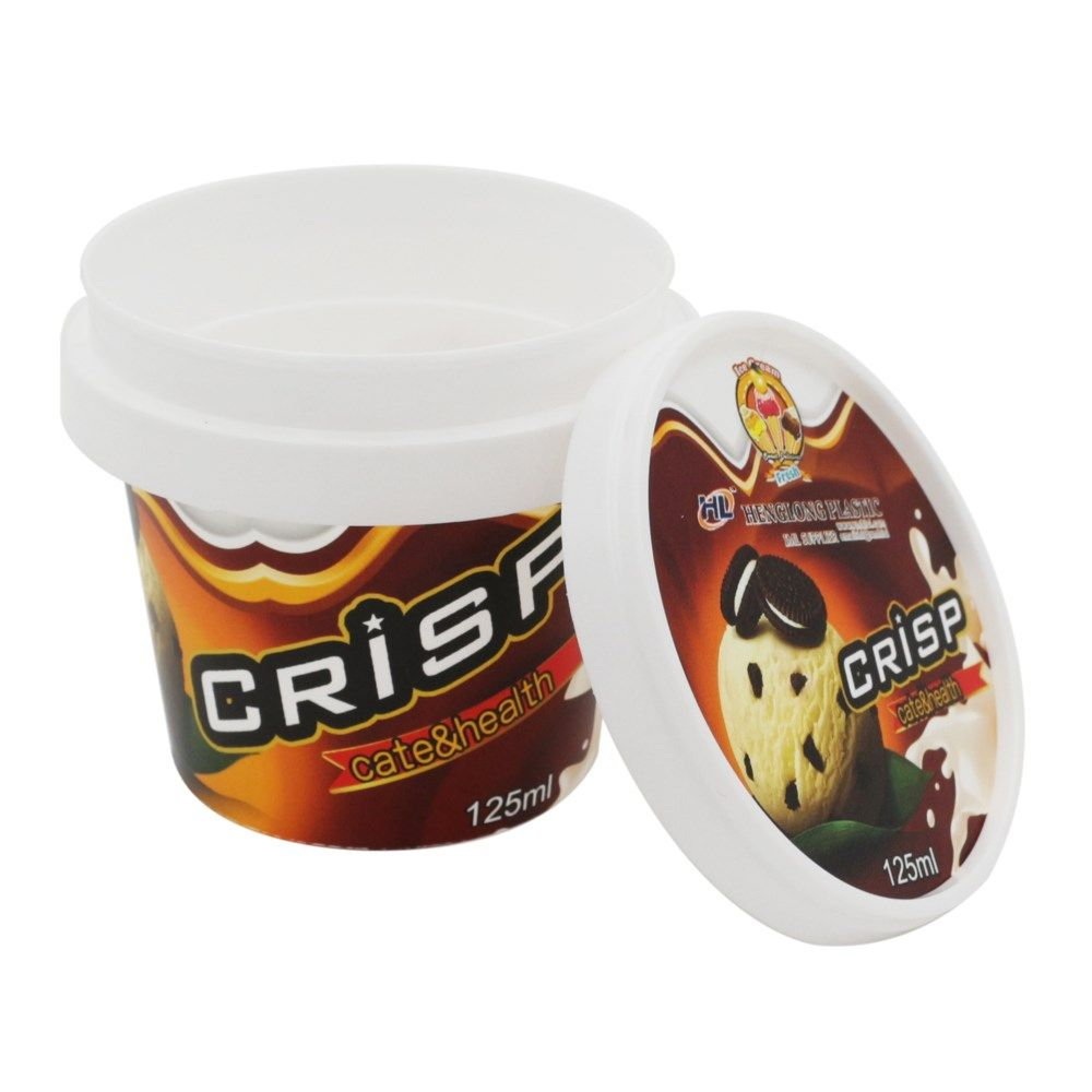 125ml Plastic Ice Cream Packaging,Custom Logo Ice Cream ...