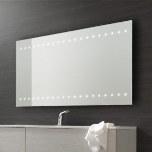 Large bathroom mirror with led http8dietfo pinterest large bathroom mirror illuminated bathroom lighting has two purposes and this makes it one of the rooms in the house to g aloadofball Gallery