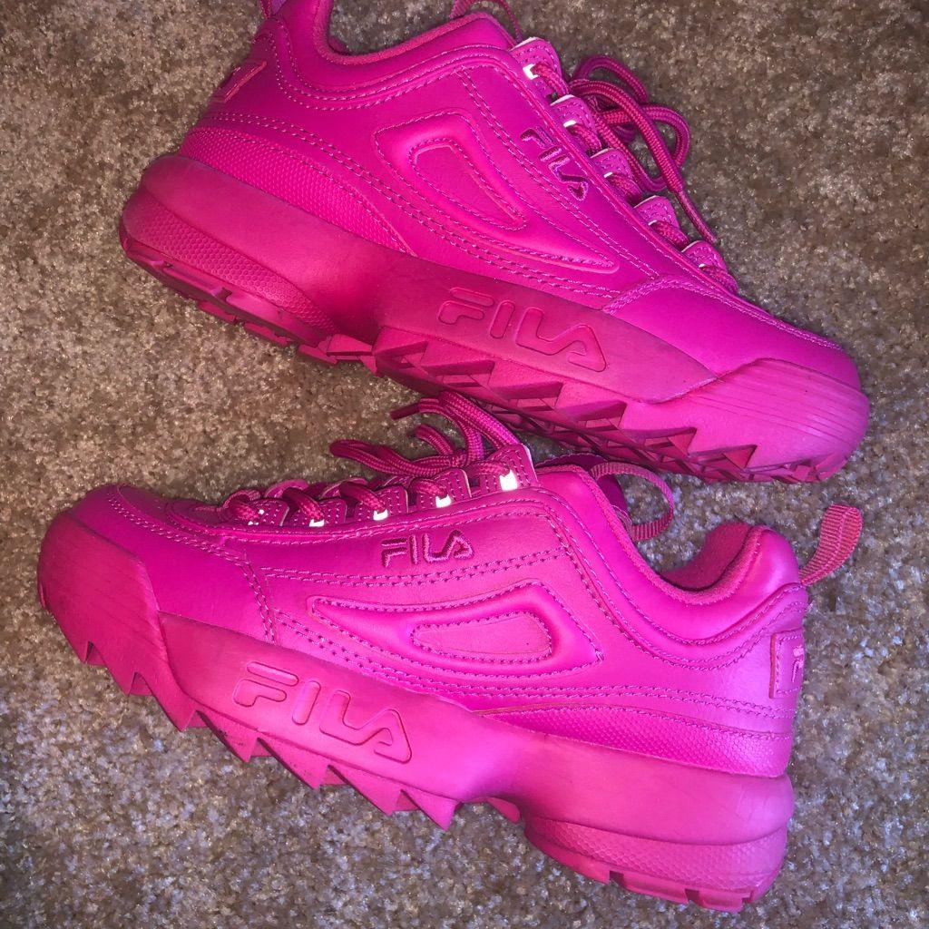 Fila Shoes | Hot Pink Fila Disruptors Size 5.5 | Color: Pink