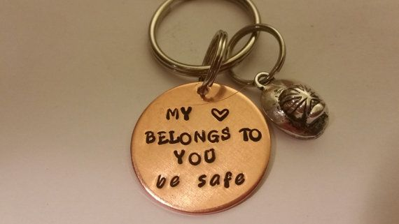 Firefighter Keychain, Be Safe, My Heart Belongs To You