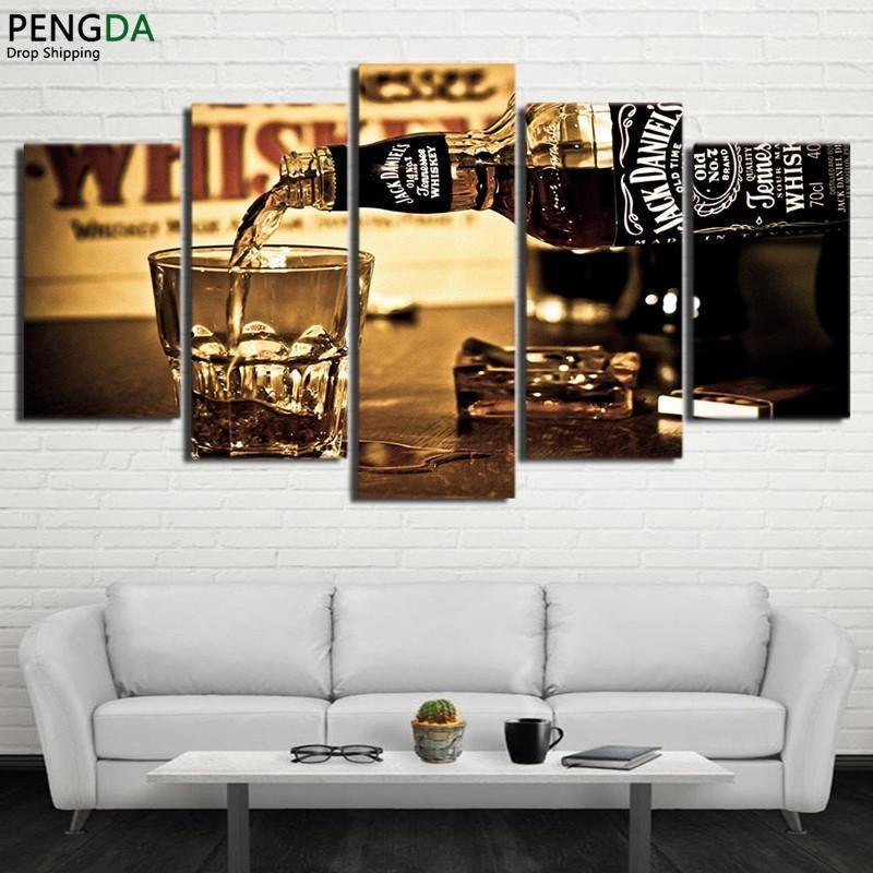 Photo of Jack Daniels Whiskey Canvas – Large / Unframed