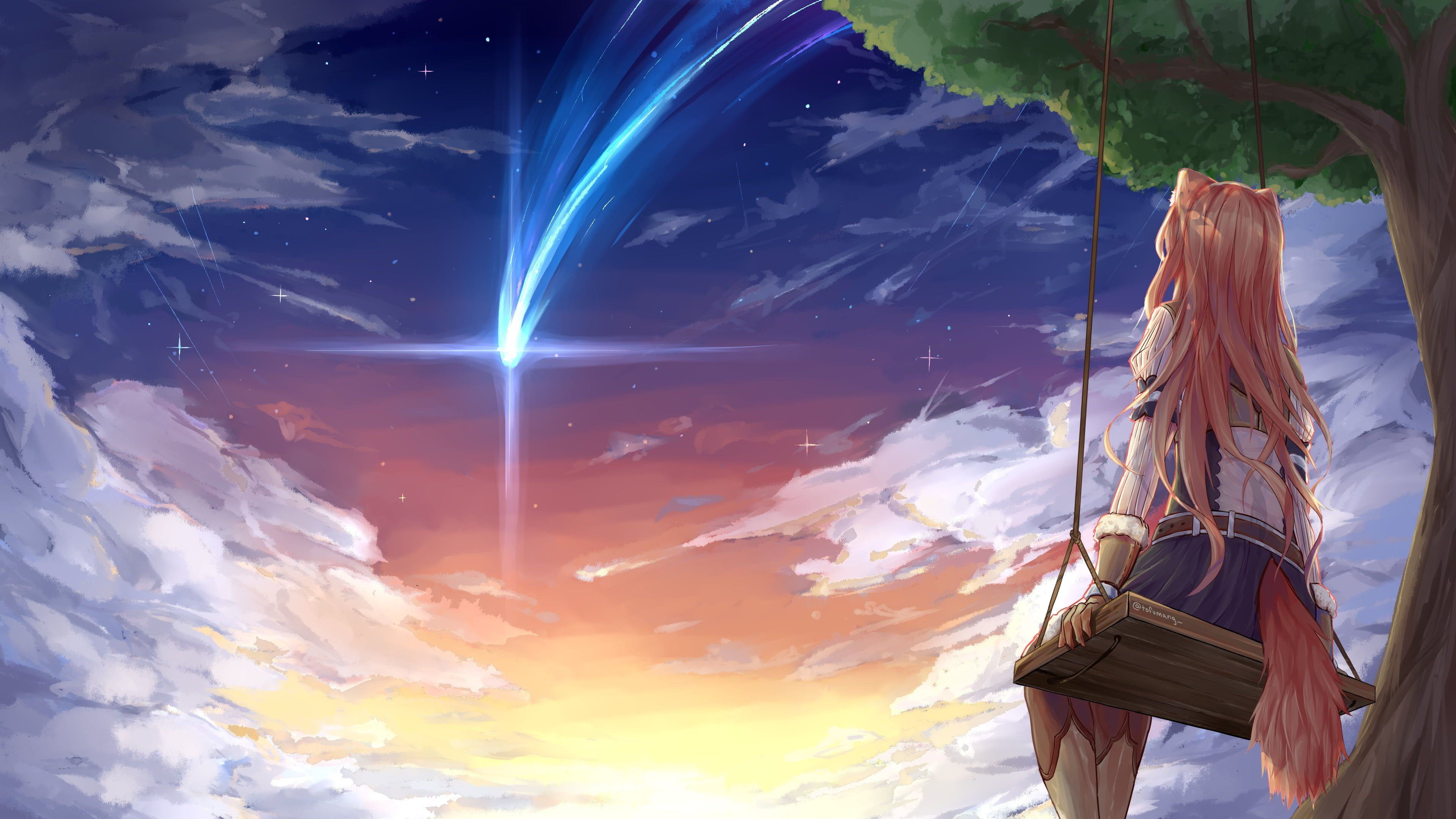 Anime The Rising Of The Shield Hero Brown Hair Cloud Raphtalia The Rising Of The Shield Hero Sky Sunset Anime Wallpaper Hero Wallpaper Wallpaper Pc Anime