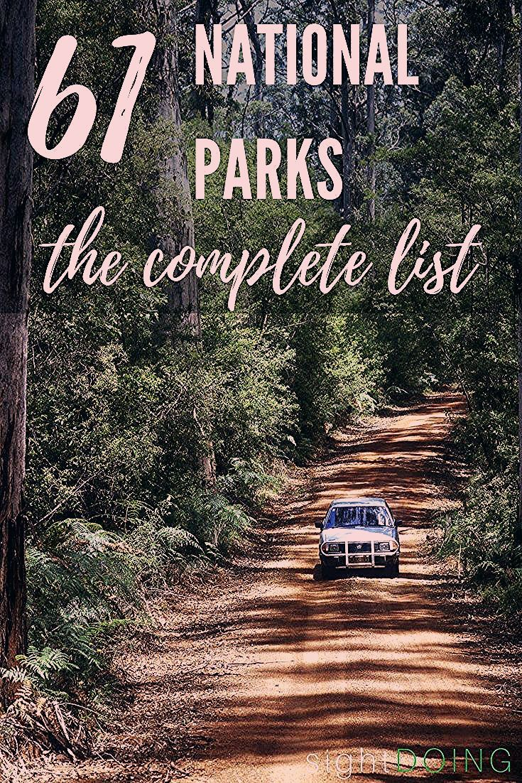 Photo of Complete List of US National Parks and Printable PDF — sightDOING