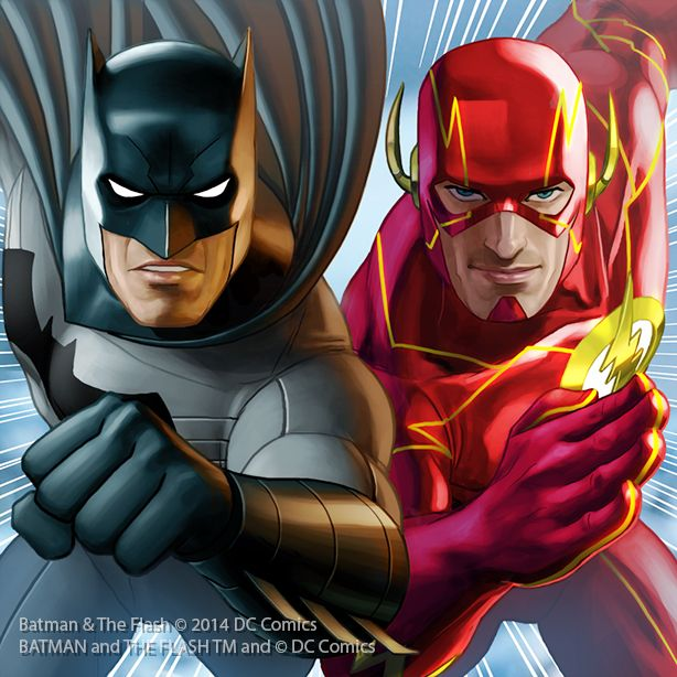 Batman And The Flash By Junaidi With Images Hero Run Batman