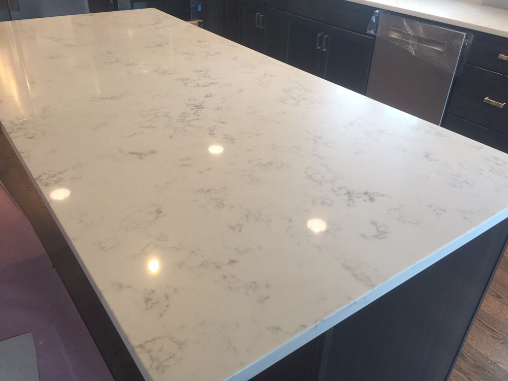 Carrara Grigio Quartz Recycled Kitchen Diy Kitchen Countertops Diy Countertops