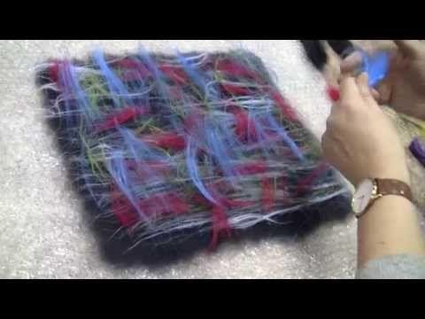 """Эксперименты с войлоком: волокна и """"слоеный"""" войлок - YouTube"""