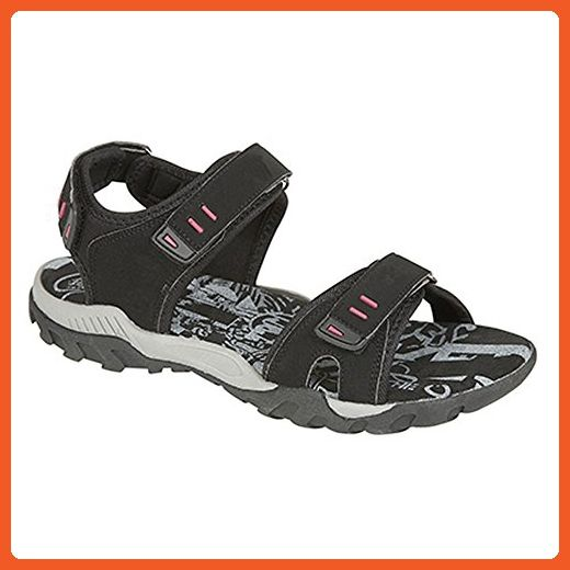 117e056f0a3fee PDQ Womens Ladies Toggle   Touch Fastening Sports Sandals (7 US) (Black) -  Sandals for women ( Amazon Partner-Link)