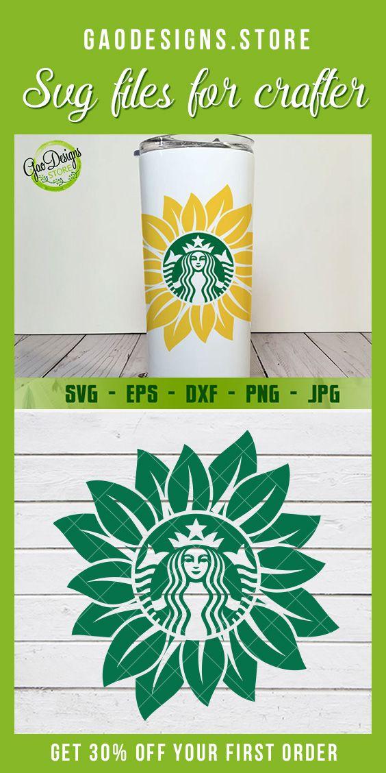 Sunflower Starbucks Coffee SVG file Starbucks coffee