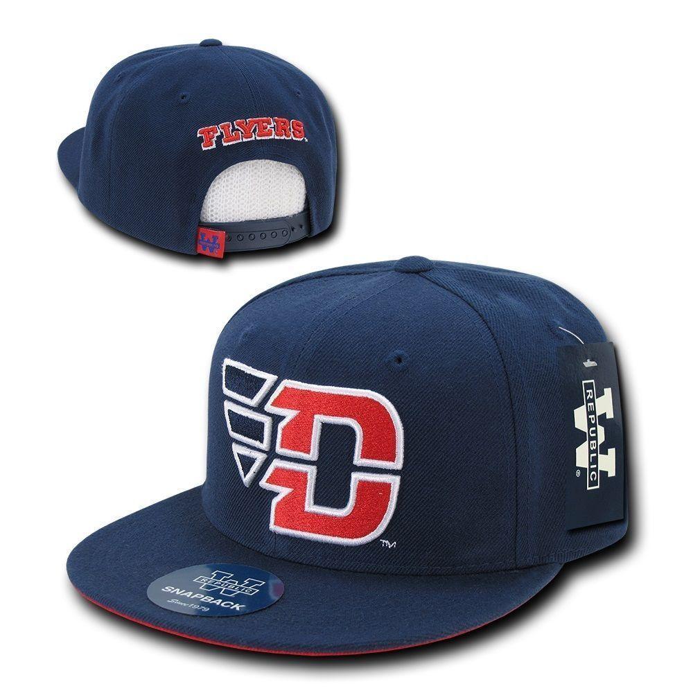 dc37f18357ab6 Navy Blue Dayton University UD Flyers NCAA Flat Bill Snapback Baseball Hat  Cap  WRepublic  BaseballCap