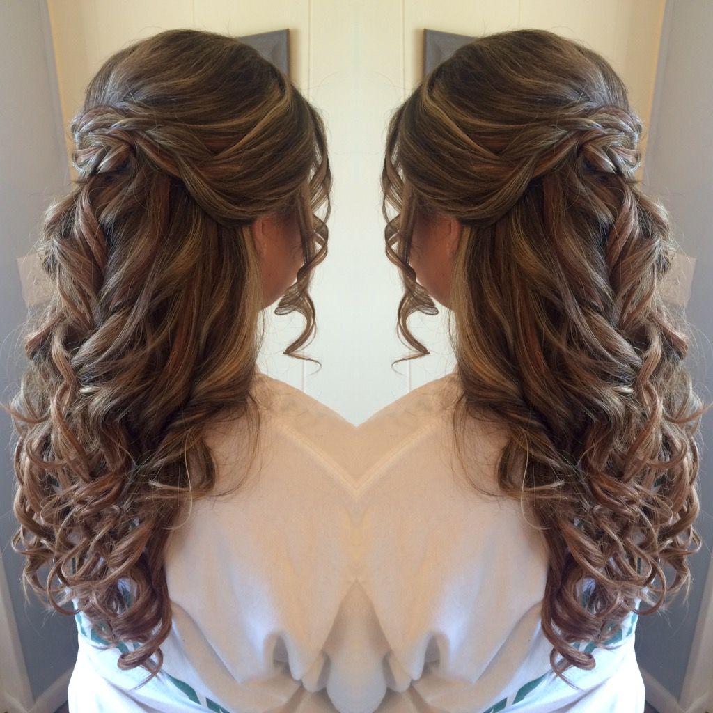 Half Up Half Down Prom Hair Ward Wedding Pinterest Prom