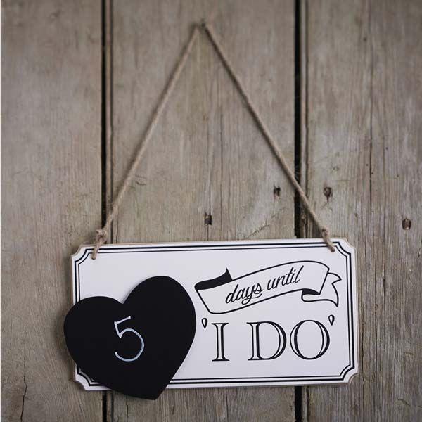 Countdown Zahlschild Tage Bis Zur Hochzeit I Do Sweetwedding