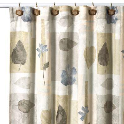 Croscill Spa Leaf 70 Inch X 75 Inch Fabric Shower Curtain Fabric Shower Curtains Shower Curtain Curtains 75 inch long shower curtain