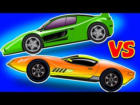 Sports Car Vs Sports Car Race For Kids Kids Video Youtube