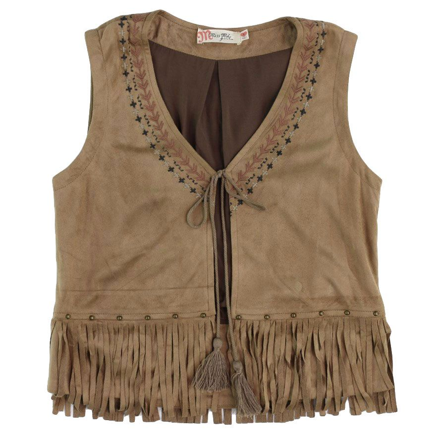 New #MissMe for girls! Style KMDJ309T Embroidered Vest available at Billy's Western Wear.