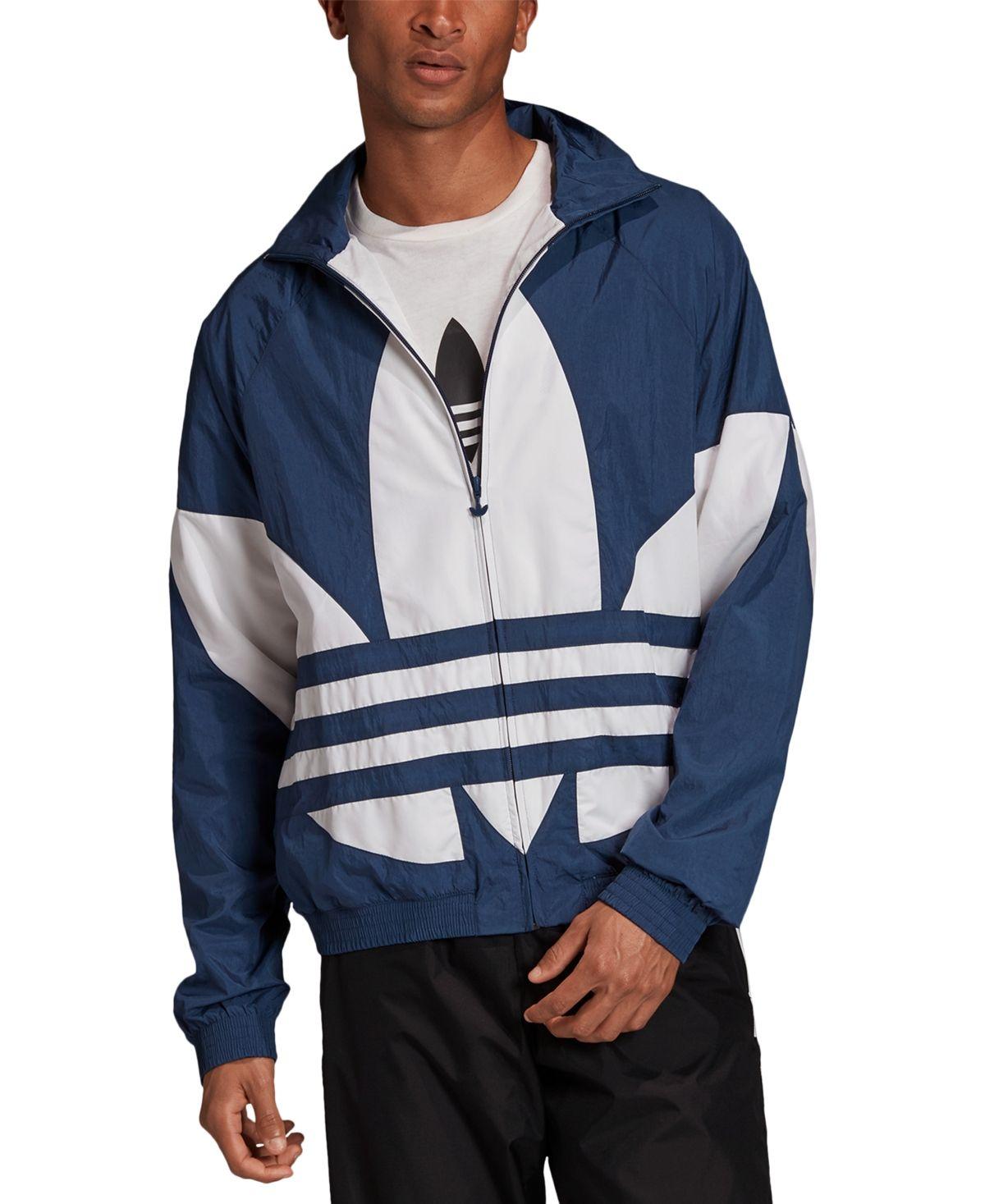 Adidas Men S Originals Big Logo Track Jacket Night Marine White Adidas Outfit Men Adidas Originals Outfit Adidas Jacket Mens