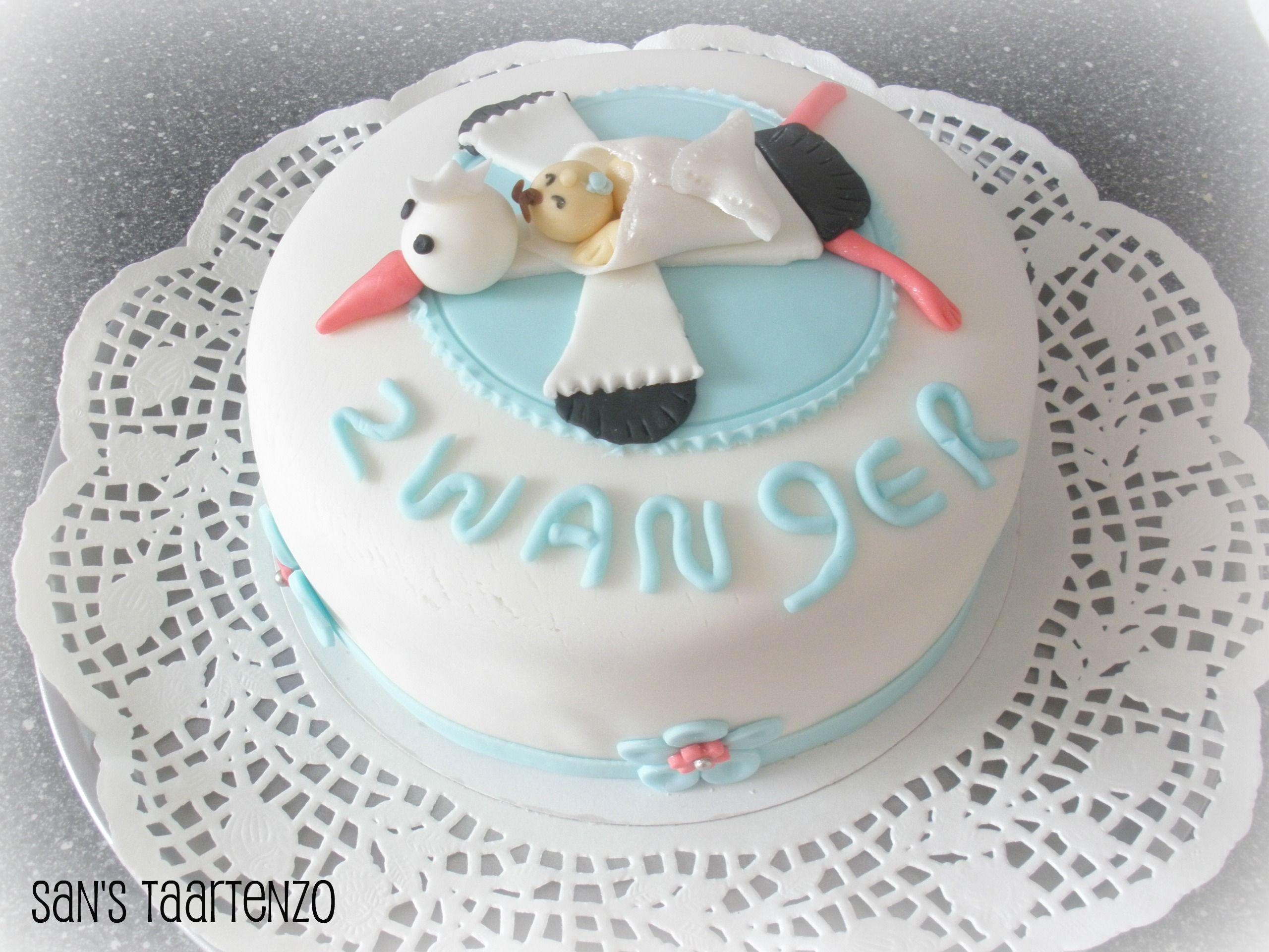 Voorkeur Zwanger | * Mijn taarten / My cakes * - Baby aankondiging taart #FS11