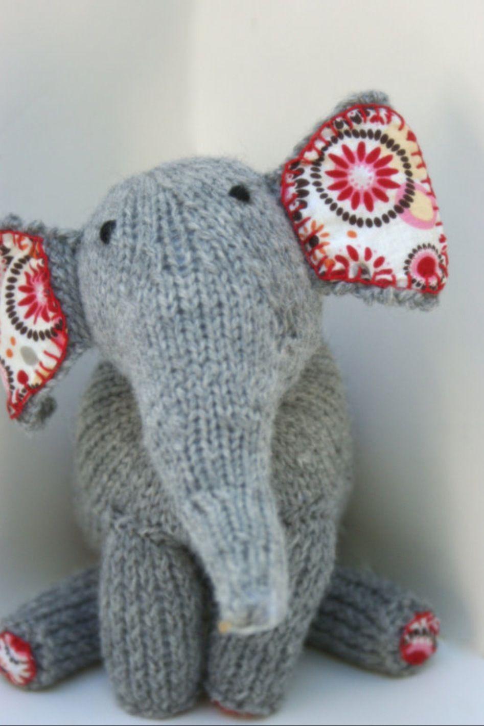 Elephant - so cute!!! | Handmade knitting, Knitting ...