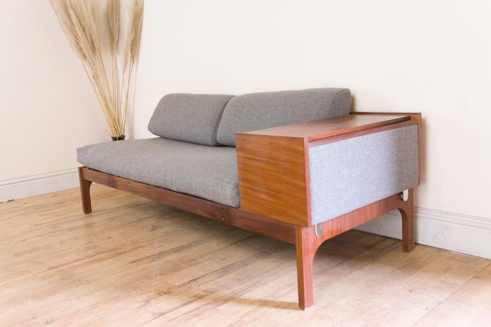 Vintage Retro 1960s Mid Century Teak Daybed Sofa Bed Heals Era Scandinavian Ebay Minimalist Living Room Patio Furniture For Sale Daybed Sofa