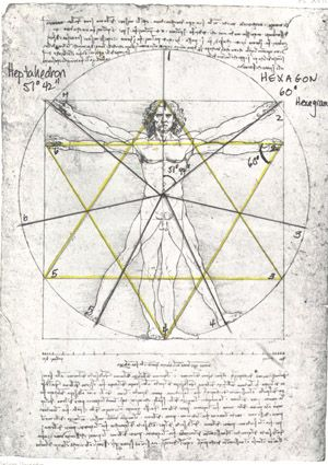 the heptagram grid is in black.  DaVinci was awesome