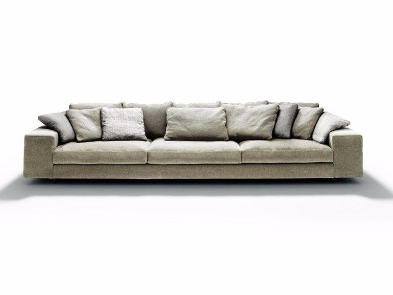Divano in tessuto con chaise longue LANDSCAPE by DE PADOVA | CLASSIC ...