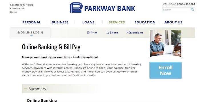 Parkway Bank Bill Pay Paying bills