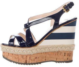 1f74c389cd12 Prada Espadrille Wedge Sandals