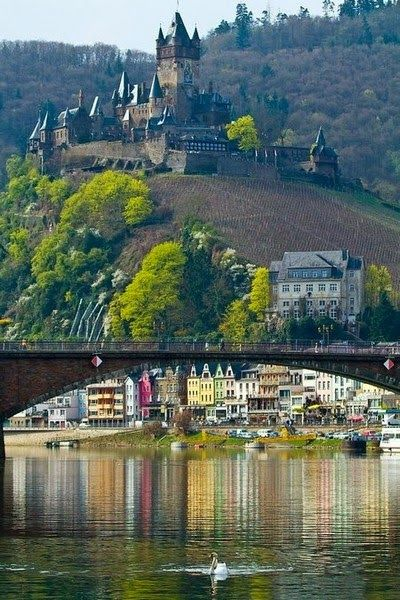 Alemanha, França e Luxemburgo, rio Mosel ou Moselle (Fra) - Cochem along the Mosel