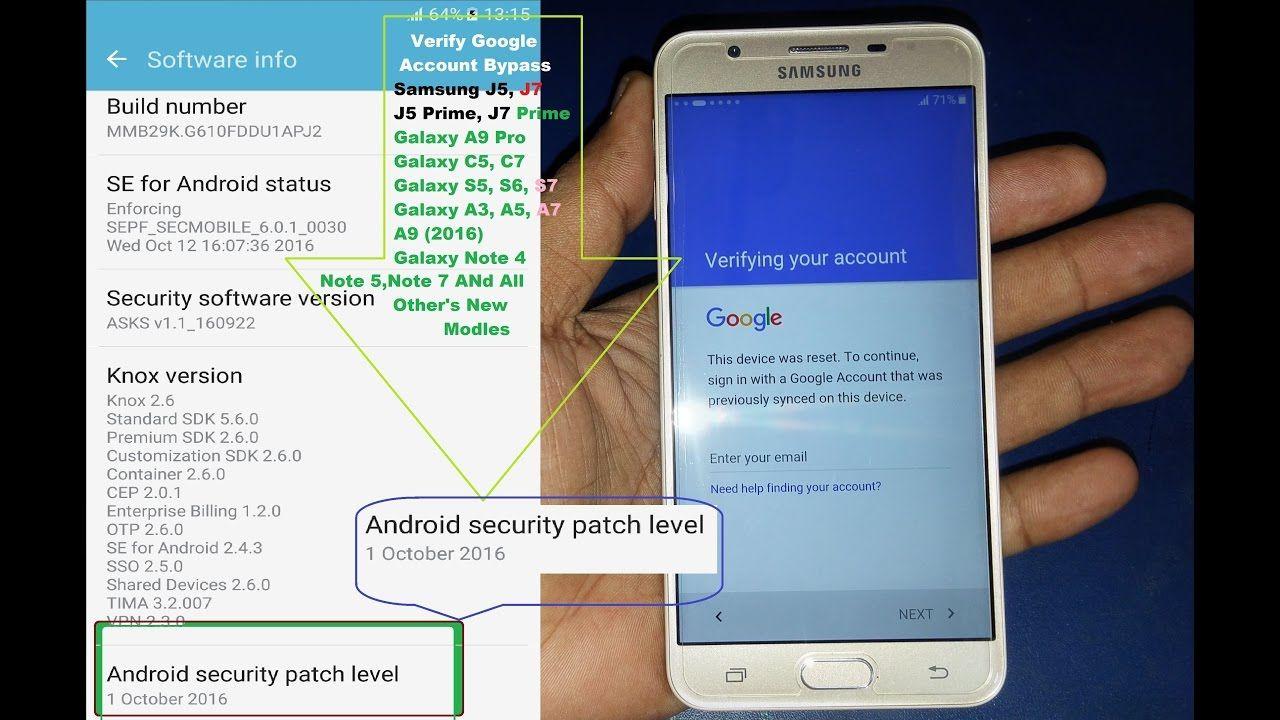 Bypass Google Account Samsung Galaxy J7 Prime, J5 Prime