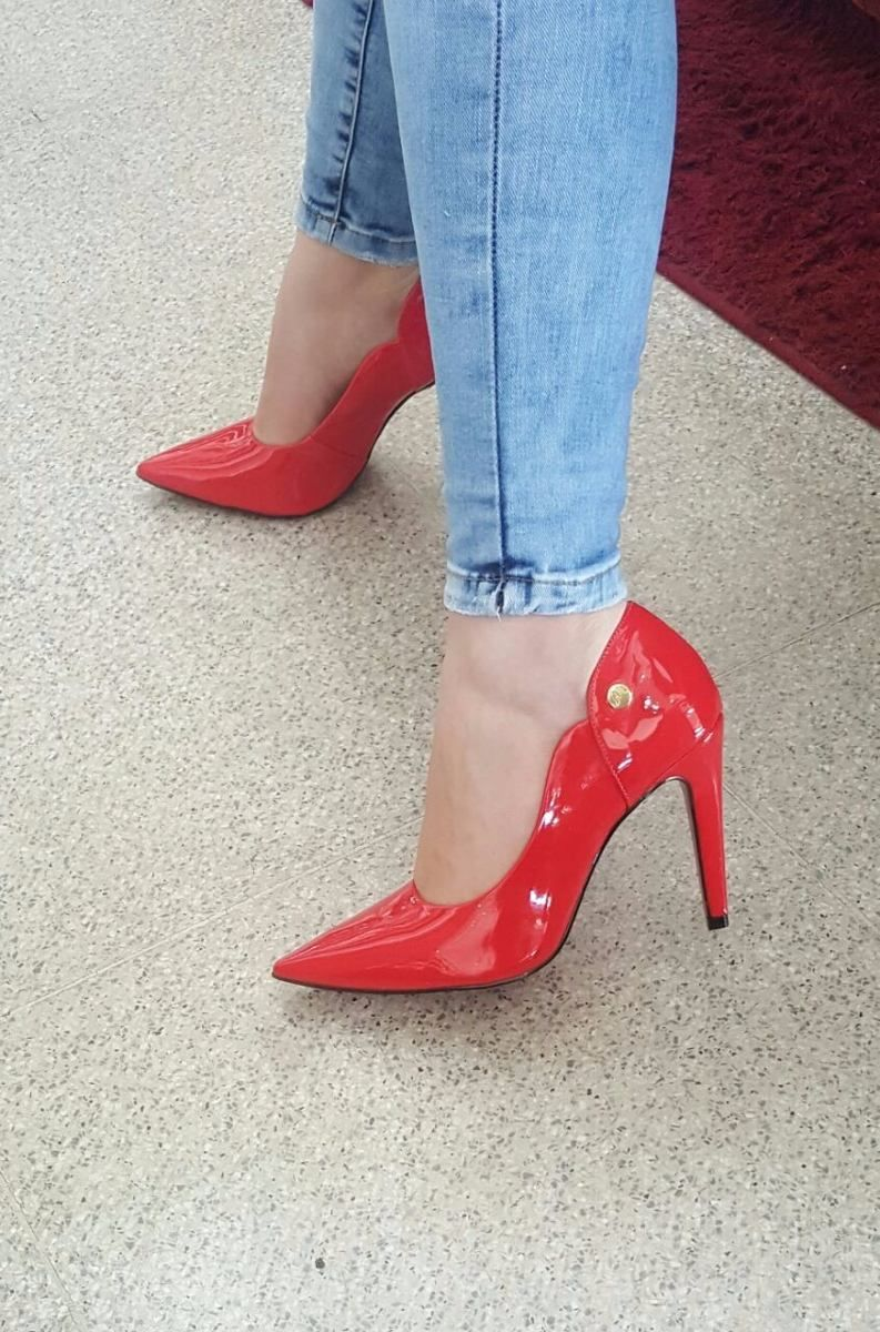 624babd60 Scarpin Verniz Rosa Bebê / Coloridos Fretegrátis Week Shoes - R$ 159 ...