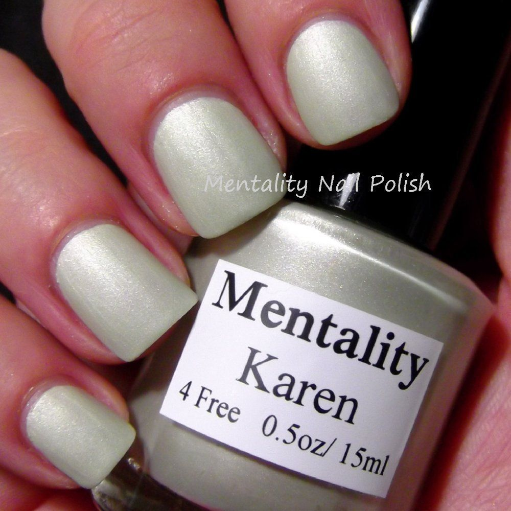 Mentality Nail Polish Karen A Pastel Sage From The Mattes Collection