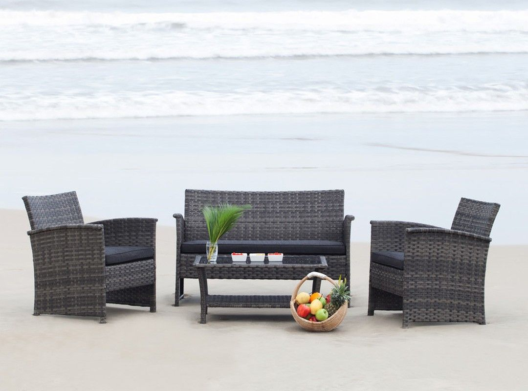 GERONA Patio Chat Set, $399 On Sale For $299. Grey Two Toned Textured