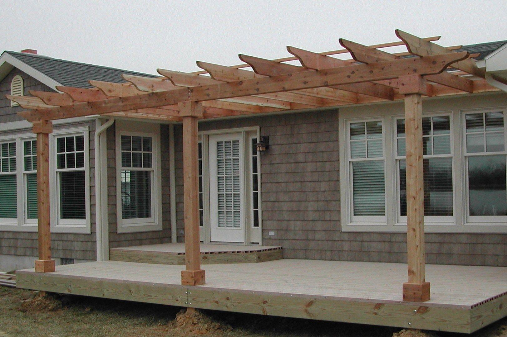 Side of house pergola | Pergola, Backyard pergola, Porch ... on Side Yard Pergola Ideas id=65425