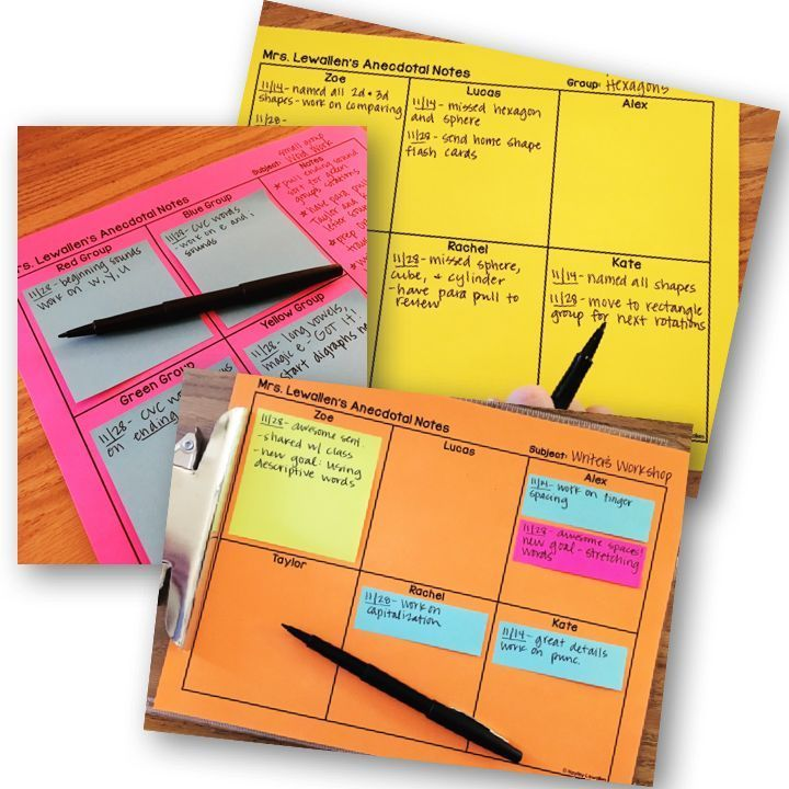 Editable Anecdotal Note Templates  Anecdotal Notes Notes