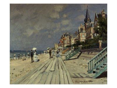 Beach at Trouville:   Claude Monet  art.com
