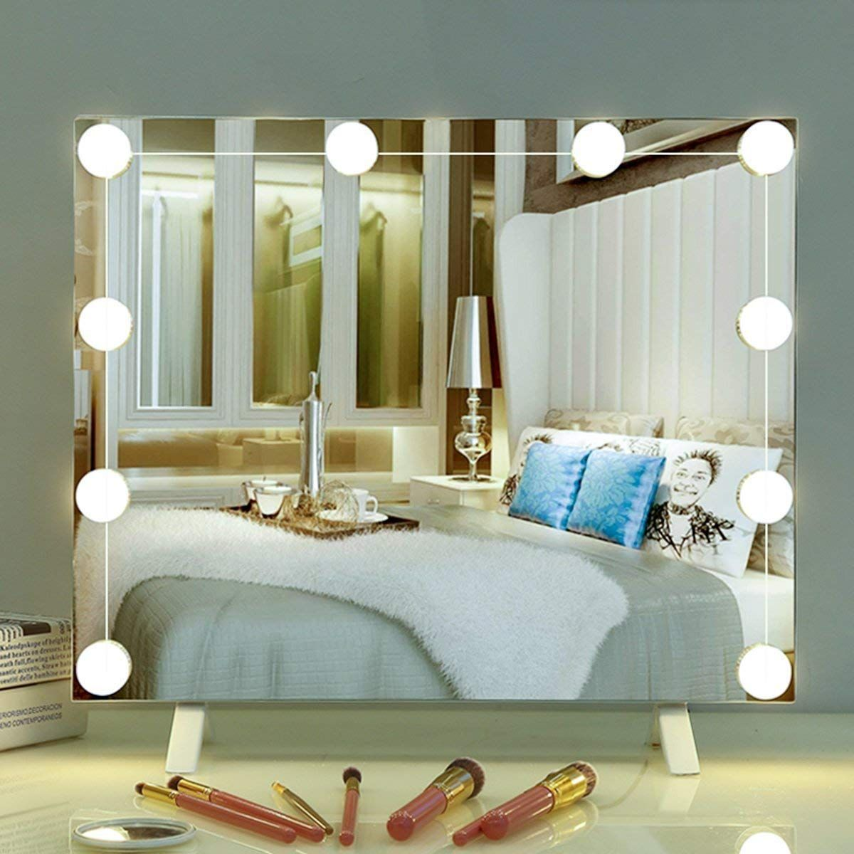 24 99 Makeup Mirror Light Bulb Yunlights Hollywood Style Led Vanity Mirror Lights Kit Wit Mirror With Lights Bathroom Mirror Lights Makeup Mirror With Lights