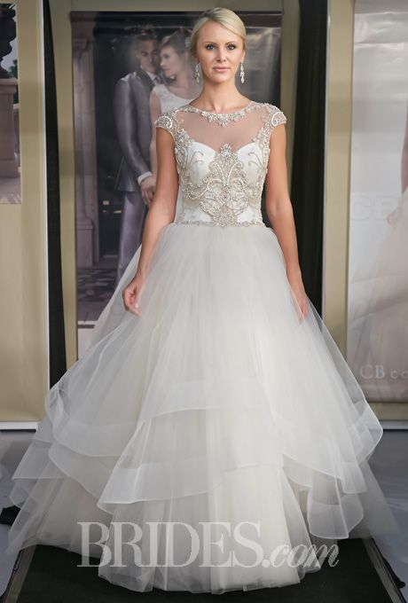 Brides Fall 2017 Wedding Dress Trend Illusion Cap Sleeves Style B075