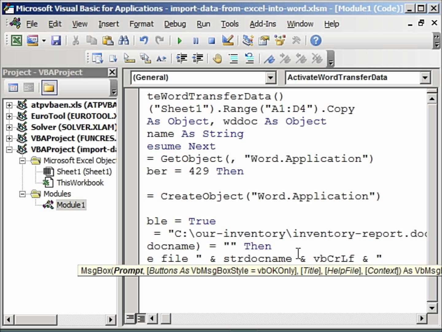 Import Data From Excel Into Word Automatically Using Vba Excel