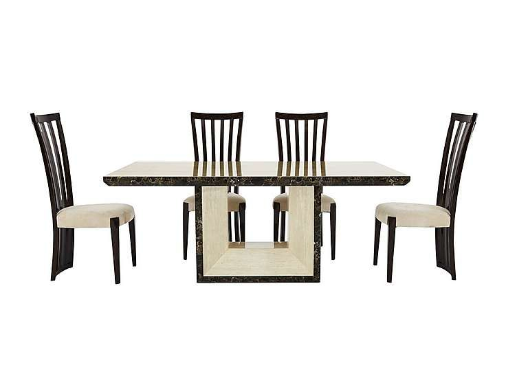 Furniture Village Marmo Dining Table and 4 Chairs Inspiring