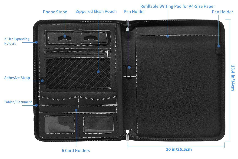 inkotimes padfolio portfol zipper binder best resume