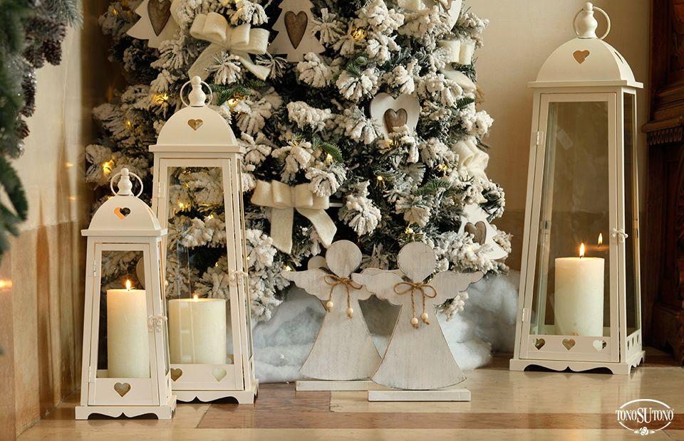 Arredamento natalizio ~ Natale tonosutono allestimento natalizio con lanterne e angeli