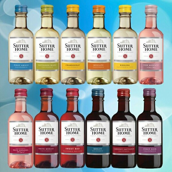 Mini sutter home wine bottles bulk ordering for wedding wine favors ...