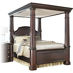 picture of Dumont 4 Pc King Canopy Bed from Beds Furniture  sc 1 st  Pinterest & Bed upon upgrade to KING - Dumont Cherry King Canopy from Rooms to ...
