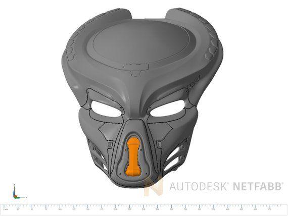 Fugitive Predator Helmet from 2018 movie cosplay mask for 3D