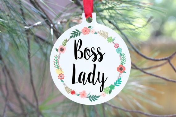 Boss Lady Ornament Best Boss Gift Manager Gift