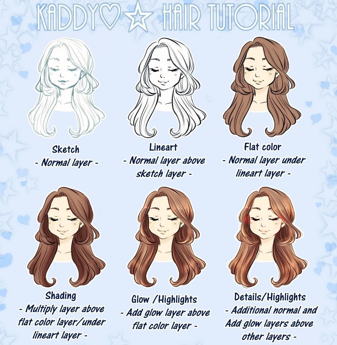 10 Amazing Drawing Hairstyles For Characters Ideas In 2020 Drawing Hair Tutorial Clip Studio Paint Tutorial Clip Studio Paint
