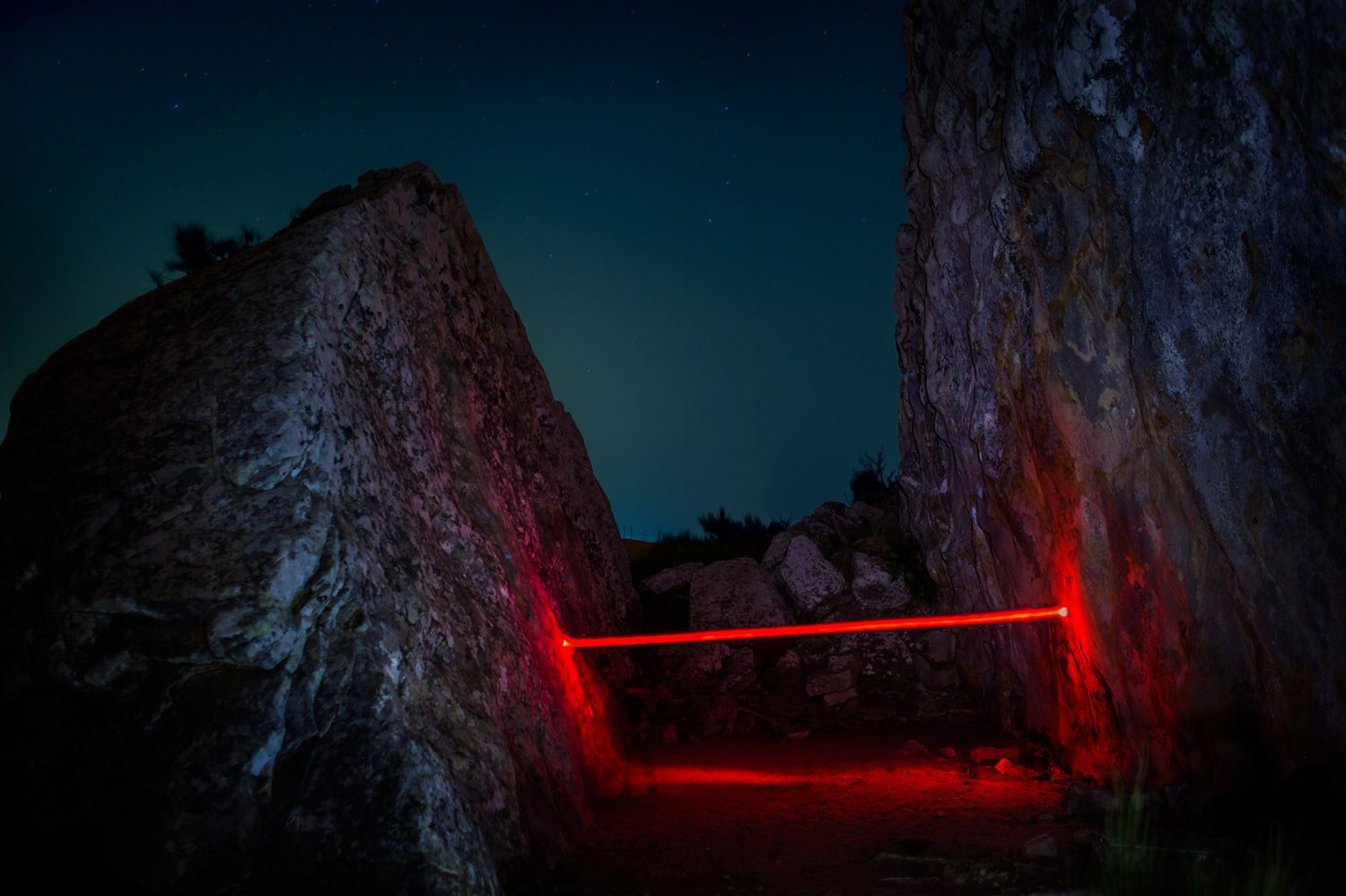captivating light installations in nature by nicolas rivals - Captivating Light Installation Artists