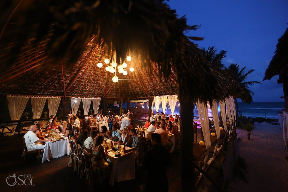 Fabulous Beach Wedding Venue In Tulum The Akiin Club Has A Stunning Palapa And They Always Manage To Make Weddings Match Personalities Of