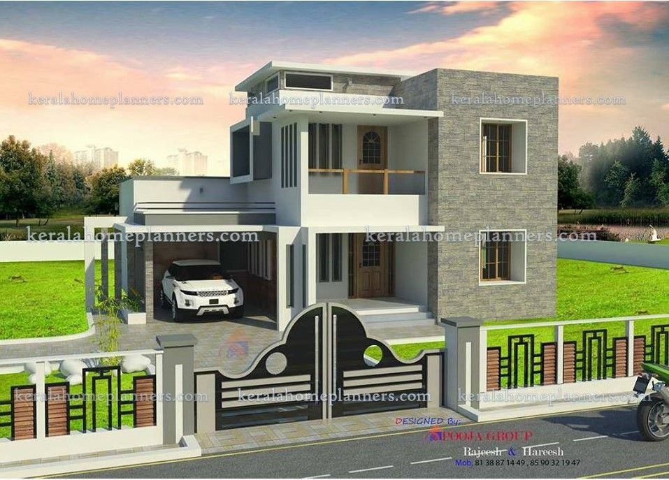 ₹24 lakhs cost estimated 3 Bedroom Double floor house ...
